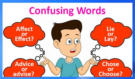words confused    difference  confusing words