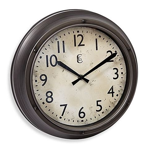 bed bath and beyond clocks buy geneva screw accent wall clock from bed bath beyond