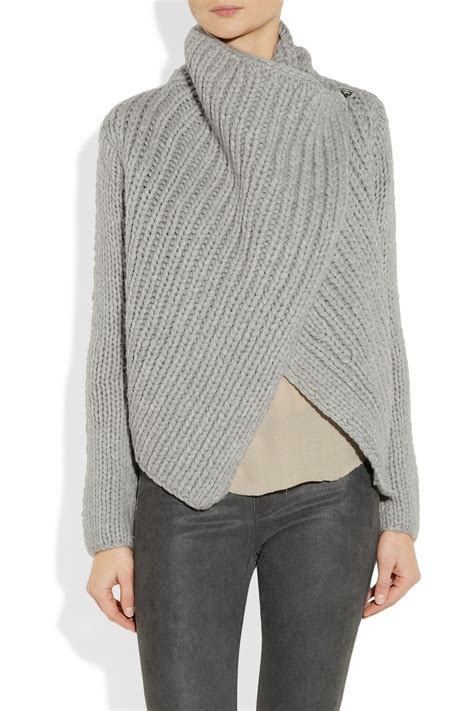 Cardigan Longs List Rib helmut lang bulky rib knit sweater the easy wrap style no pattern unfortunately