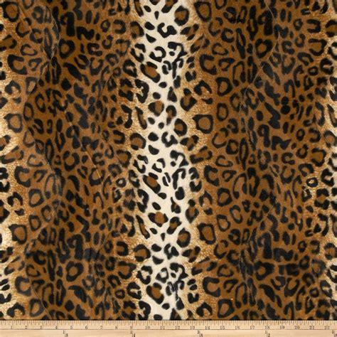 leopard fabric velboa faux fur leopard gold discount designer fabric