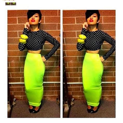 skirt lime maxi skirt bodycon dress polka dots dress