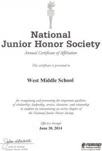 national honor society certificate template nhs letter of recommendation images