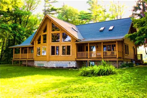 Cabins Michigan by Lake Huron Large Log Home Vrbo