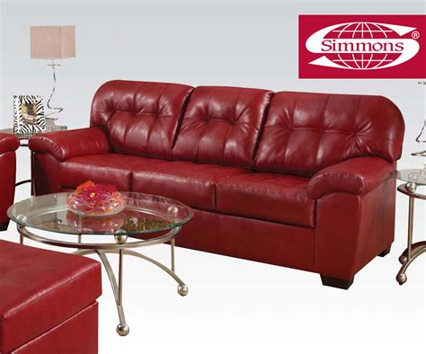 Simmons Leather Sofa Simmons Shi Cardinal Bonded Leather Match Sofa