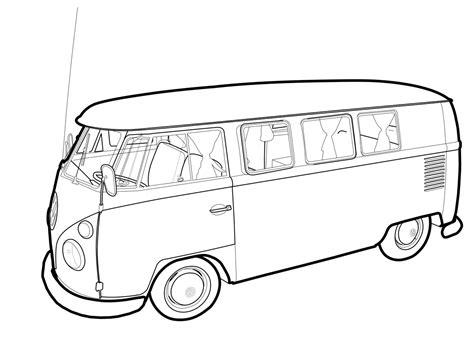 volkswagen van drawing vw vector wip by rigamortiz on deviantart