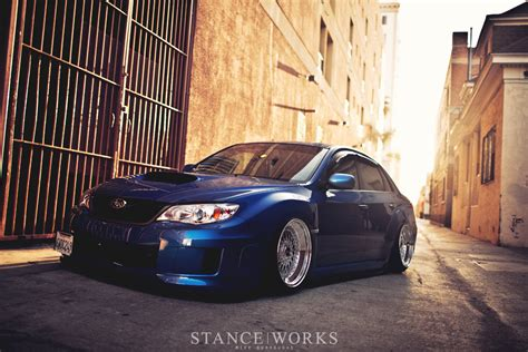 subaru stance jaycee s subaru wrx on slant lip bbs rs wheels