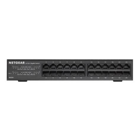 Dijamin Netgear Gs324 Switch 24 Port Gigabit Ethernet netgear gs324 24 port gigabit rackmount switch price in