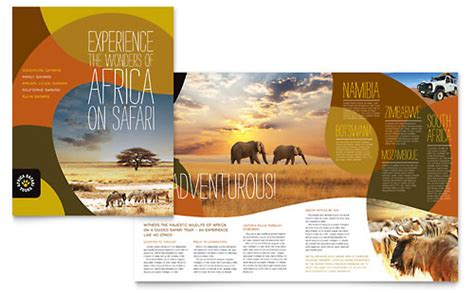 zoo brochure template zoo animal park brochure templates pets animals