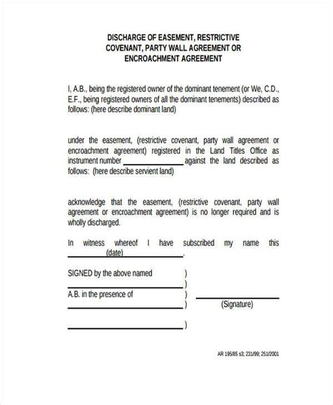 Wall Agreement Letter Exle Sle Wall Agreement Forms 7 Free Documents In