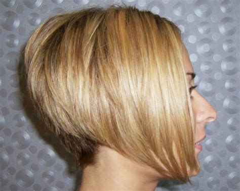 angled stacked bob haircut photos short inverted bob hairstyle back