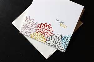 Handmade Thank You Card Designs - handmade thank you card designs