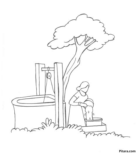 coloring page water well water well coloring sheet murderthestout