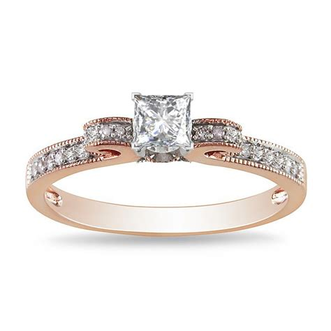 exquisite cheap engagement ring 0 50 carat princess cut