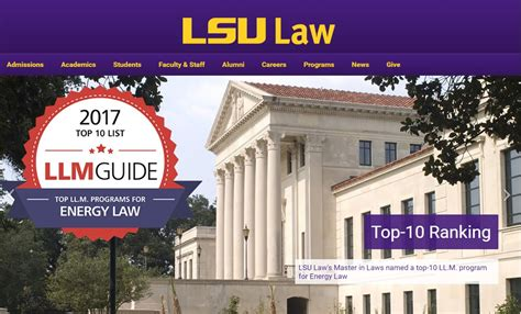 best llm in the world lsu featured in llm guide s top ten lists for 2017 lsu