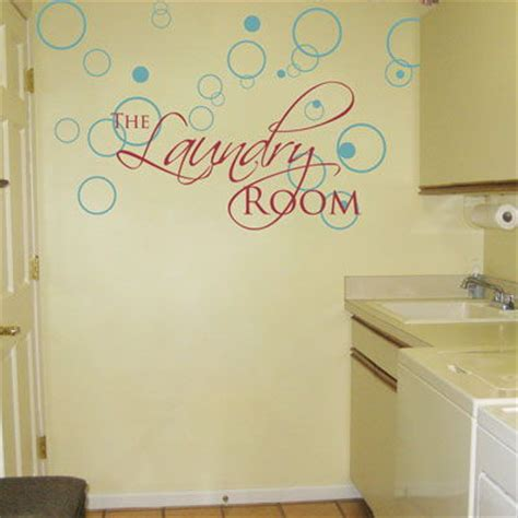 Laundry Room Decals by The Laundry Room Lettering And Bubbles Wall Decals