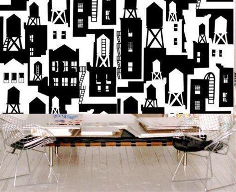 york wallcoverings home design center new york city watertowers wallpaper in black white