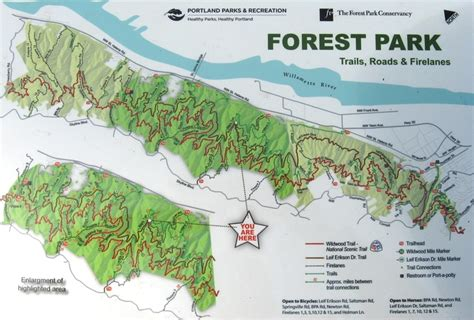 forest park oregon map pin by andrea schein on portland or