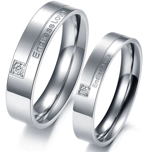 quot endless quot titanium stainless steel mens