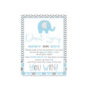 elephant don t say baby shower boys clothespin