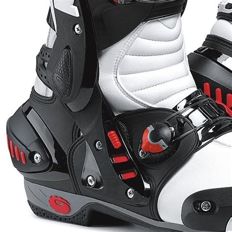white motorbike boots sidi vortice motorcycle boots white black ebay