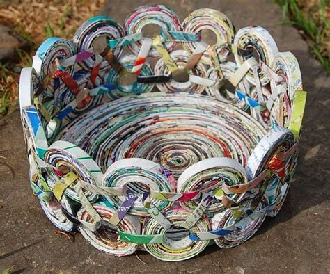 Rolled Paper Crafts - 25 best ideas about recycled magazine crafts on