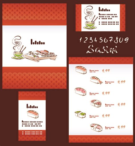 vector japan sushi menu templates 01 vector cover