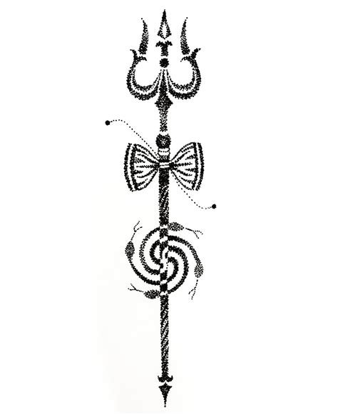 trishul tattoo art dotwork by tattootemple2010 on deviantart