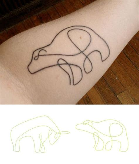 simple line tattoos 25 best ideas about polar on