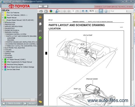 toyota celica repair manuals download wiring diagram electronic parts catalog epc online