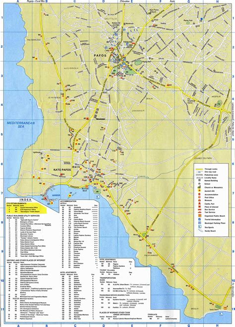 map of the city of paphos maps paphos area map and paphos city map