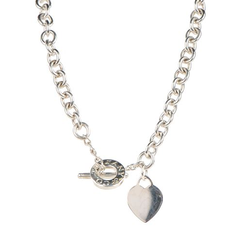 co sterling silver tag toggle necklace 130848