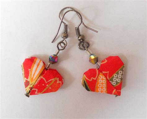 How To Make Origami Jewelry - origami earrings by sakuralu83 on deviantart