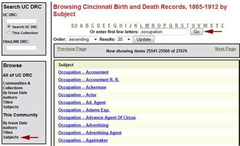 Cincinnati Birth Records Cincinnati Birth And Records Digital Collections And Repositories Uc Libraries