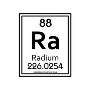 radium as seen on a periodic table radium was discovered