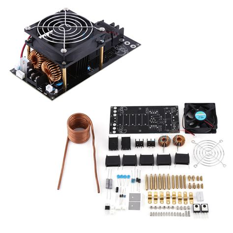 zvs induction heater design 1000w 20a dc12 36v zvs induction heating board module heater cooling fan diy kit ebay
