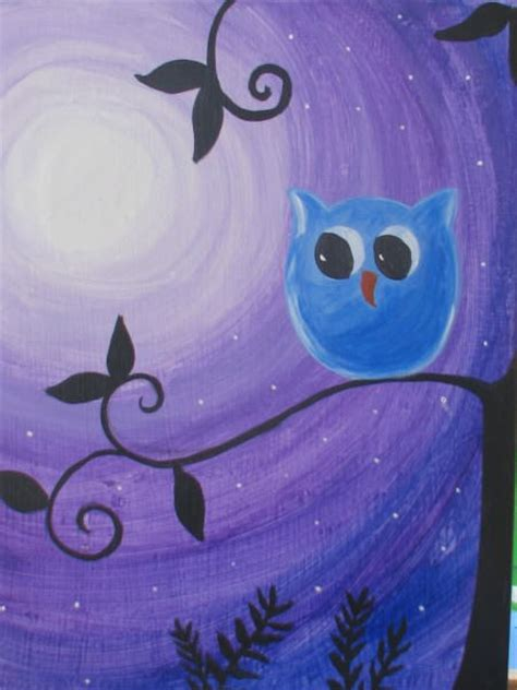 paint nite owl owl painting gallery