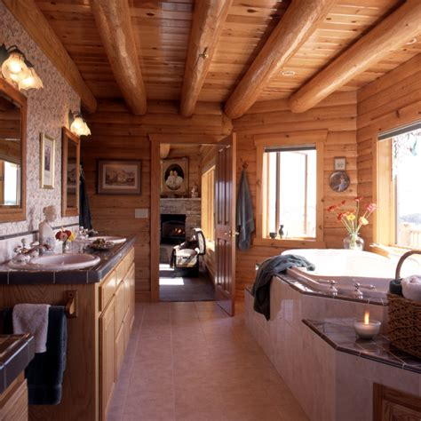 log home bathrooms real log home 171 real log style
