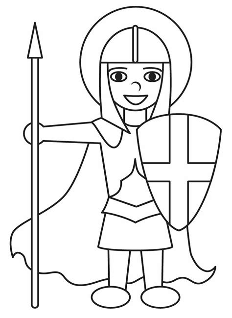 st george colouring pages