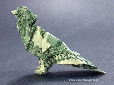 Dollar Bill Origami Bird - sparrow money origami bird dollar vincent the artist