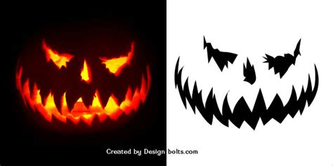scary pumpkin templates 10 free scary pumpkin carving patterns stencils