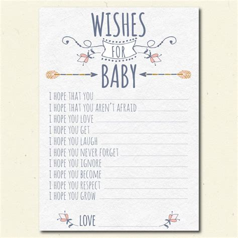 wishes for baby printable template 1000 ideas about wishes for baby boy on