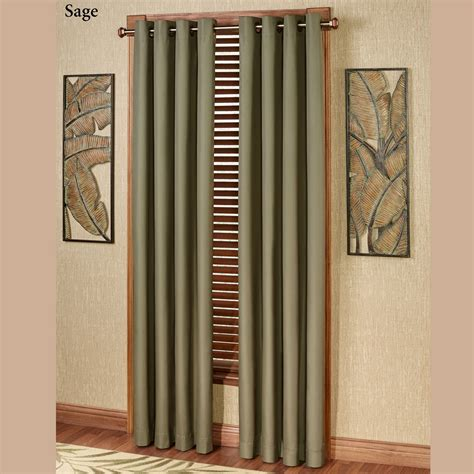 paramount curtains paramount solid color thermal grommet curtain panels