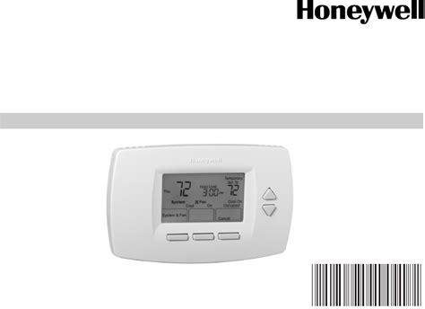 Honeywell Thermostat Tb7220u User Guide Manualsonline Com