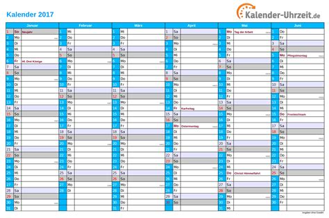 Ausdrucken Kalender 2017 Kalender 2017 Mit Feiertagen