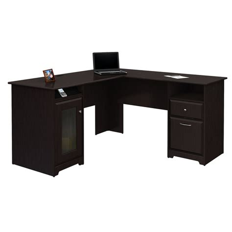 Office Desk Supply Shop Bush Furniture Cabot L Shaped Desk At Lowes