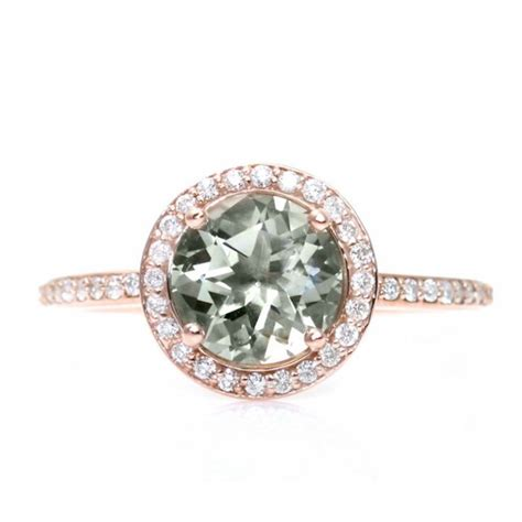 engagement rings earth gold green amethyst