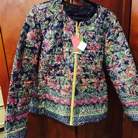 sewing pattern reversible quilted jacket 40 off lilly pulitzer jackets blazers reversible