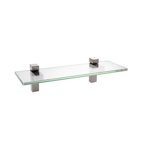 Bathroom Glass Shelves Brushed Nickel Kes 14 Inch Bathroom Tempered Glass Shelf 8mm Thick Wall Mount Rectangular Brushed Nickel
