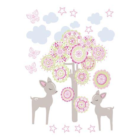kinderzimmer bild reh wandsticker pumpkin rehe rosa taupe concept kaufen
