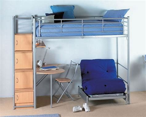 bunk bed with single futon and desk bed with desk and futon bm furnititure